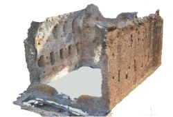 """3D-Modell des """"Tempietto"""" der Villa in Sette Bassi, Rom.Quelle: HTWK Leipzig"""