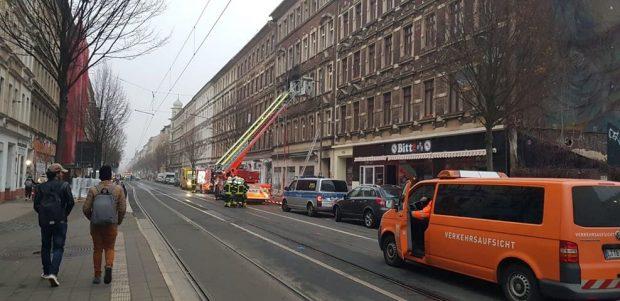 Einsatzgeschehen an der Eisenbahnstraße 113 am 26.11.2018. Foto 3: Karsten Tran