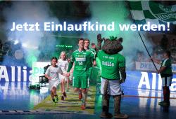 Allianz Einlaufkids. Quelle: SC DHfK Handball Verwaltung GmbH