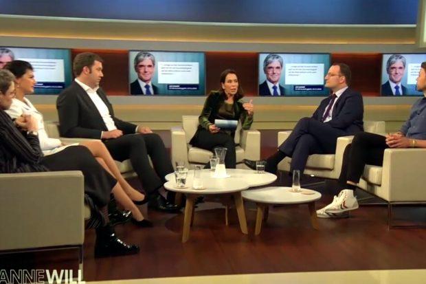 Mal wieder eine planlose Debatte übers BGE. Foto: Screen ARD