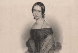 Clara Wieck 1838, Lithografie Andreas Staub @Robert-Schumann Haus Zwickau