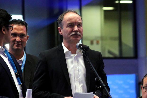 Der Leipziger Stadtrat Sven Morlok auf dem FDP-Landesparteitag in Neukieritzsch. Foto: L-IZ.de