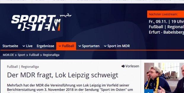 Der MDR fragt wichtige Fragen. Screenshot MDR.de