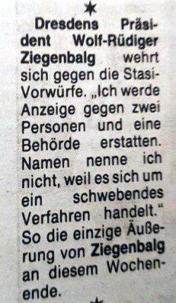 Die FuWo: Als WRZ 1992 nach knapp zwei Jahren Dynamo Dresden verließ, gab es ähnliche Abläufe. Bild: Fußballwoche 1991, Screen L-IZ.de