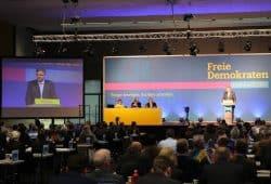 Der Landesparteitag der FDP Sachsen. Foto: Michael Freitag