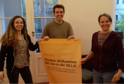 Giorgia, Francesco und Anastasiia. Quelle: Die VILLA