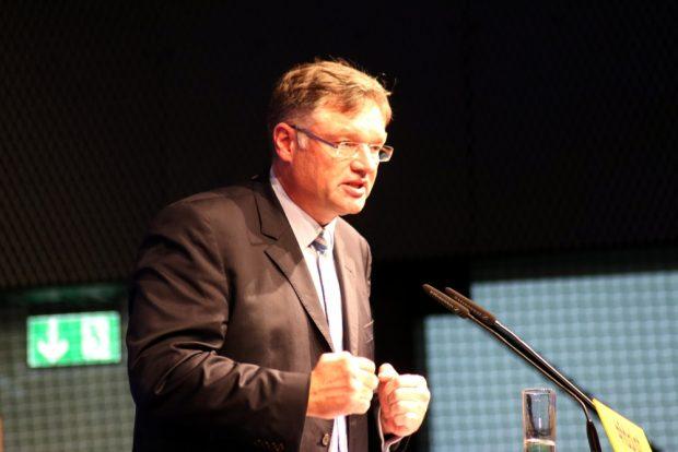 Holger Zastrow schwor am 3. 11. in Neukieritzsch die FDP auf Direktmandate ein. Foto: L-IZ.de
