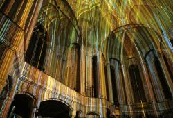 Lichtkunst von Kurt Laurenz Theinert. Quelle: Kontaktstelle Wohnen
