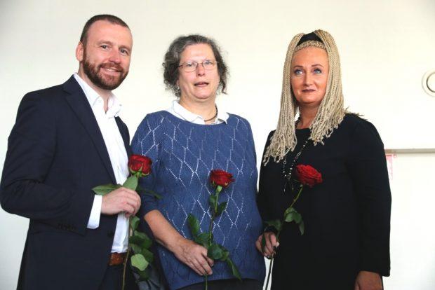 Für die SPD als Direktkandidaten im Wahlkampf 2019: Lars Menzel, Waltra Heinke und Irena Rudolph-Kokot. Foto: L-IZ.de
