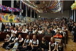 So voll ist der Hörsaal wohl nur einmal im Jahr. Quelle: HTWK Leipzig
