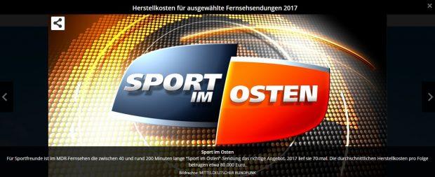 """Die Kosten für """"Sport im Osten"""" laut MDR.de. ZUM VERGRÖSSERN ANKLICKEN. Screenshot MDR.de"""