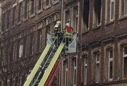 Der Brand am 26.11.2018 in der Eisenbahnstraße 113. Foto: Karsten Tran