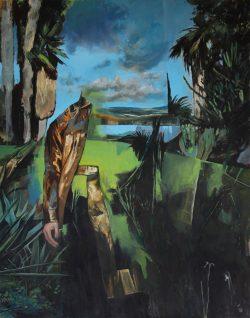 Toni Minge, Garten, Öl auf Leinwand, Quelle: CHARTER –Projektgalerie