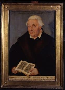 Das Ölporträt von Johannes Bugenhagen von 1572 aus der Werkstatt Lucas Cranach d. J.. Foto: Stadtgeschichtliches Museum Leipzig
