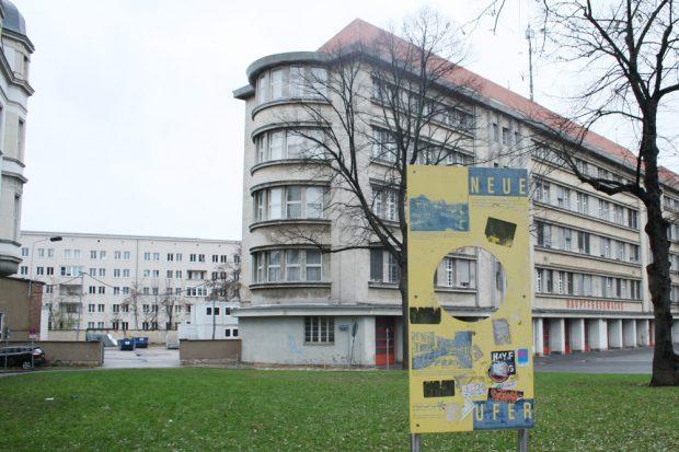 Blick zum Betriebshof der Hauptfeuerwache. Foto: Ralf Julke