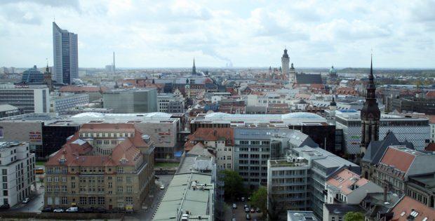 Blick über Leipzig. Foto: Ralf Julke