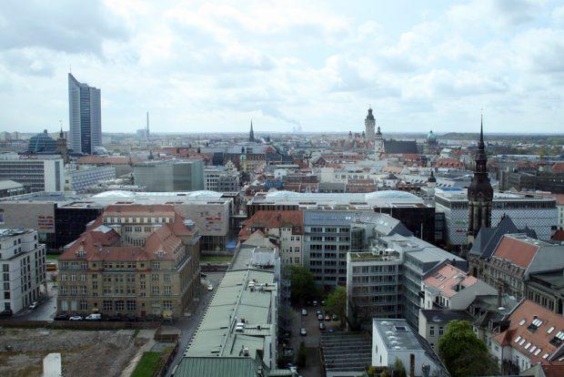 Blick über Leipzig.Foto: Ralf Julke