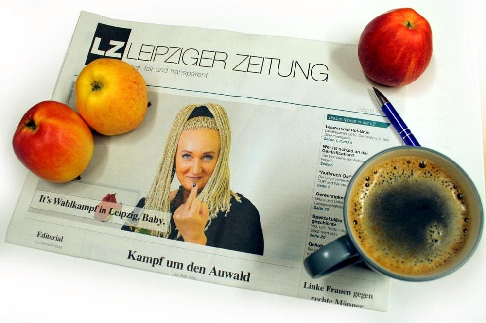 It's Wahlkampf in Leipzig, Baby. Foto: L-IZ