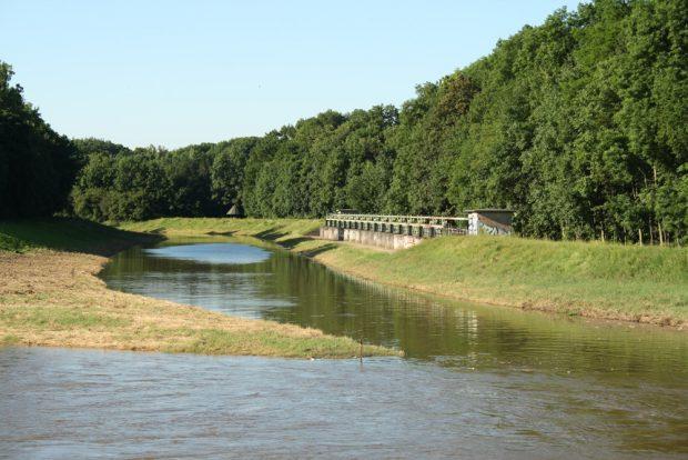 Zusammenfluss von Nahle und Neuer Luppe an der Burgaue. Foto: Ralf Julke