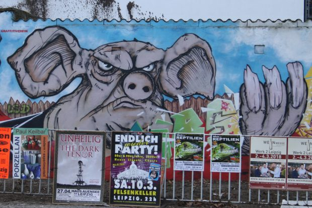 Orwell-Graffiti in Connewitz. Foto: Ralf Julke