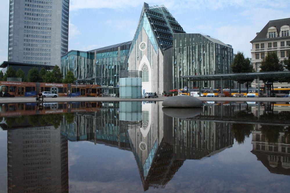Campus der Uni Leipzig am Augustusplatz. Foto: Ralf Julke