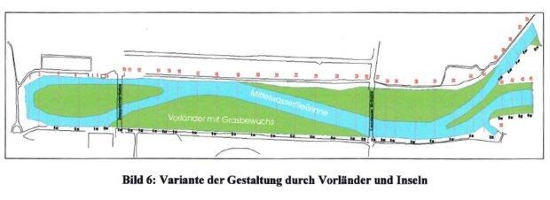 Die Vorzugsvariante aus der Studie der TU Dresden von 1999. Grafik: TU Dresden / LTV