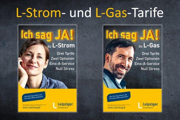 Die geplante Werbekampagne für L-Strom und L-Gas. Grafik: SWL