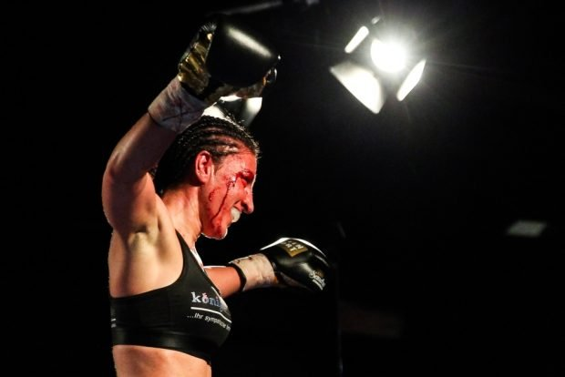 Sandra Atanassow (Leipzig) ist WBC International Champ im Federgewicht. Foto: Jan Kaefer