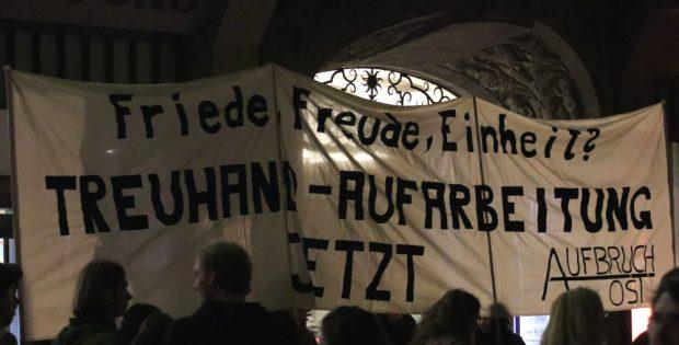 Protest beim Lichtfest. Foto: Michael Freitag