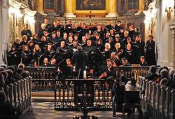 BachChor an der Nikolaikirche. Copyright Andreas Birkigt