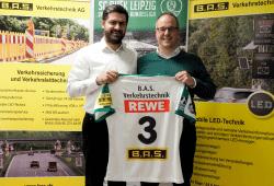 DHfK-Geschäftsführer Karsten Günther und B.A.S.-Vorstand Ralph Goerres. Quelle: SC DHfK