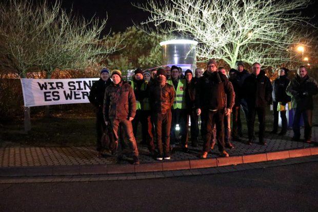 Haben heute Nacht einen deutlichen Warnschuss abgegeben: Teile der Drucker der LVZ-Druckerei. Foto: L-IZ.de