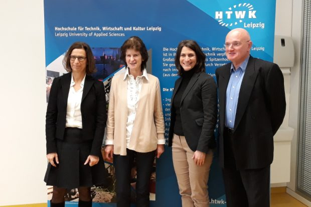 Gesine Grande, Eva-Maria-Stange, Elke Frank, Ulrich Brieler (v.l.n.r.). Foto: René Loch