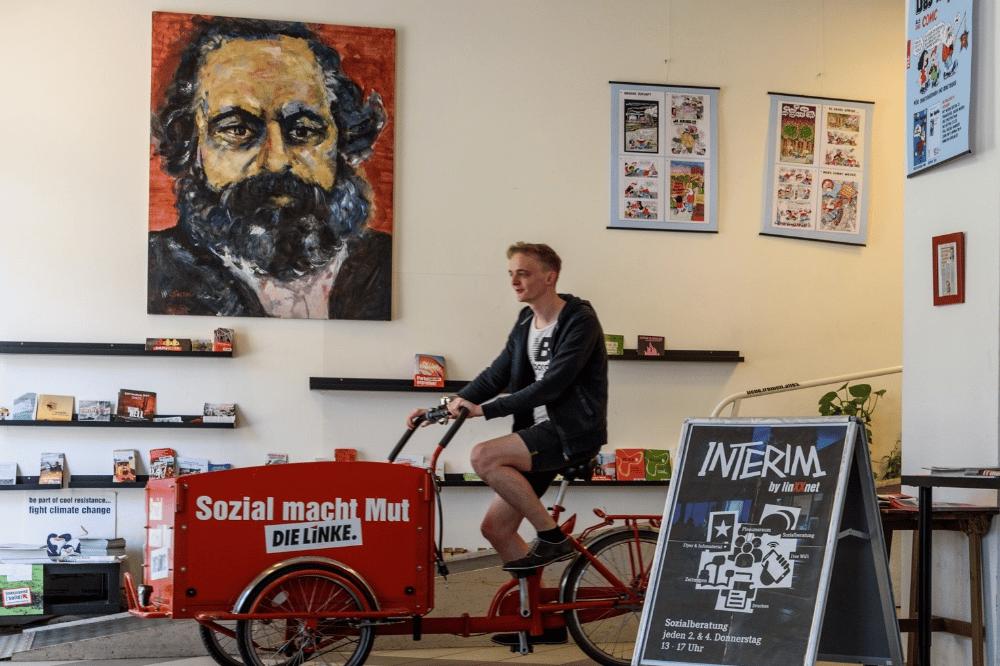 Karl Marx Bild INTERIM. Quelle: Die Linke Leipzig