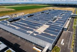 Photovoltaik-Anlage Porsch Werk Leipzig. Quelle: Porsche AG - Leipzig