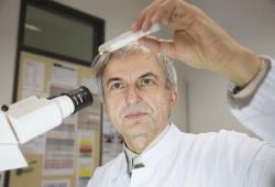 Prof. Stefan Schubert, langjähriger Leiter des Fachbereichs Infektions- und Tropenmedizin am Universitätsklinikum Leipzig, hat das Bundesverdienstkreuz verliehen bekommen. Foto: Stefan Straube / UKL