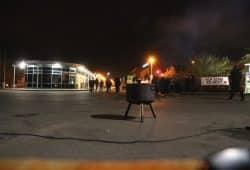 Der erste Warnstreik am 1. Dezember bei der LVZ-Druckerei mit großer Wirkung. Foto: L-IZ.de