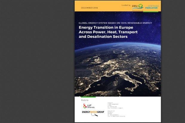 Die Studie der LUT University und der Energy Watch Group. Cover: Energy Watch Group