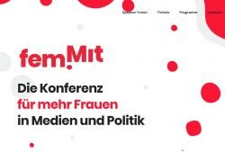 Website von fem.mit. Screenshot: L-IZ
