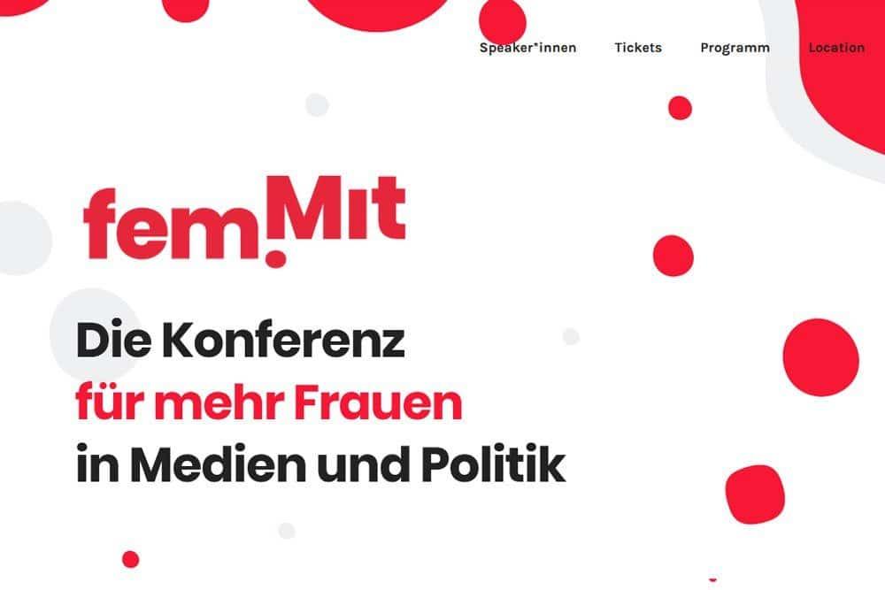 Website von fem.mit. Screenshot: L-IZ
