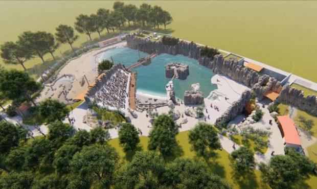 """Die neue Tierwelt """"Feuerland"""" soll ab 2019 gebaut werden. Visualisierung: Zoo Leipzig"""