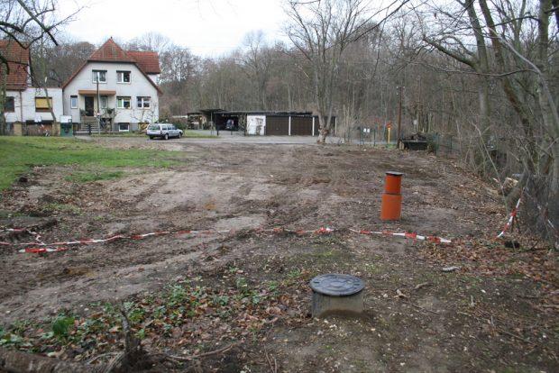 Luppe soll auch noch das sechste der geplanten Einfamilienhäuser entstehen. Foto: Ralf Julke