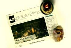 Leipziger Zeitung zu Weihnachten. Foto: Ralf Julke