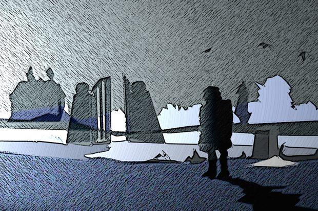 Warten im Regen. Grafik: L-IZ