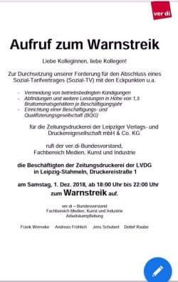 Die Streikenden werden versuchen, die Auslieferung des Sachsensonntag zu verhindern. Foto: L-IZ.de