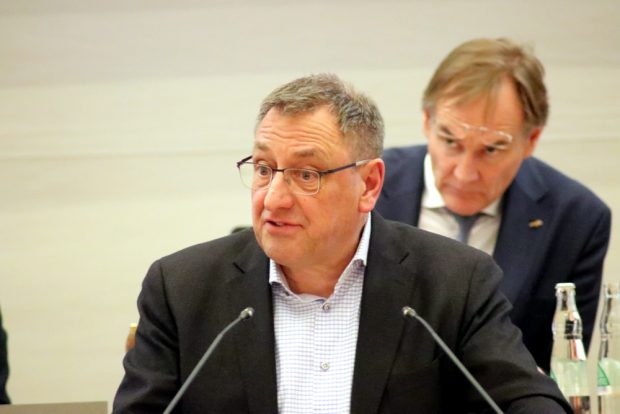 Axel Dyck (SPD) am 23. Januar 2019 zur Parkraumbewirtschaftung in Leipzig. Foto: L-IZ.de
