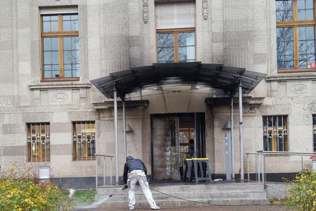 Das Gebäude des 5. Senats des BGH am Morgen nach der Silvesternacht. Foto: L-IZ.de