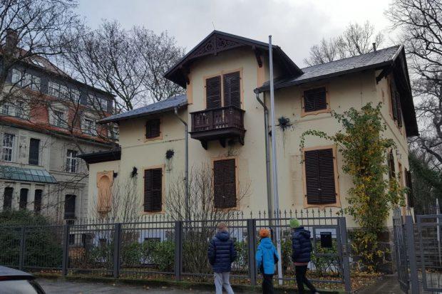 "Das Burschenschaftshaus des ""Corps Lusatia Leipzig"" am 1. 1. 2019. Foto: L-IZ.de"