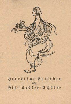 »Hebräische Balladen«, Gedichtband von Else Lasker-Schüler, 1913. Gemeinfrei.