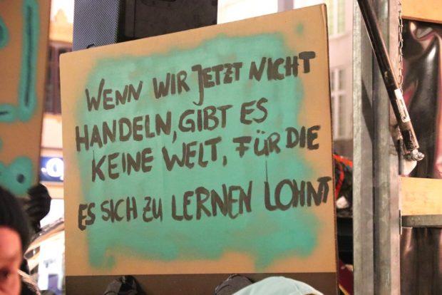 Für die teilnehmenden Schüler ist die ökologische Zukunft jetzt. Am Freitag, 18. Januar 2018 wollen sie in den Schulstreik gehen. Foto: L-IZ.de